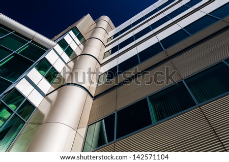 Modern architecture in the Inner Harbor of Baltimore, Maryland. - stock photo