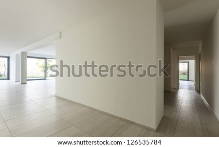 modern architecture, new empty apartment