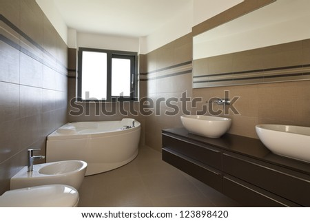 modern architecture, new empty apartment, bathroom