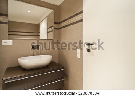 Empty Apartment Bathroom modern architecture new empty apartment bathroom stock photo