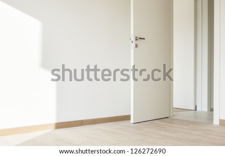 modern architecture, new empty apartment, detail room - stock photo