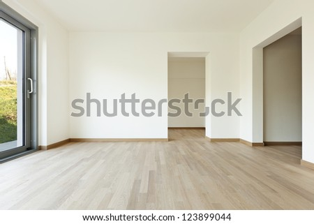 modern architecture, new empty apartment , room - stock photo