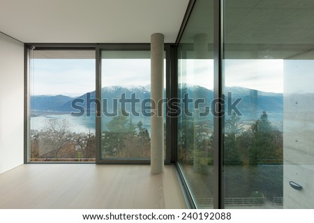 Modern architecture, nice apartment, room with window - stock photo
