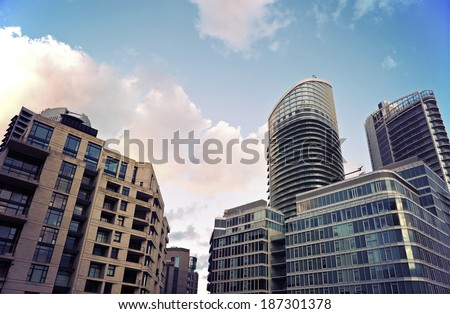 Modern architecture of Beirut - seen morning time - stock photo
