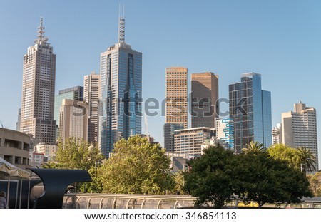 Modern architecture of Melbourne, Australia.