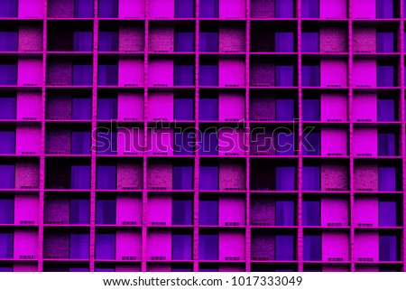 Modern Architecture Windows Ultraviolet Abstract Background Stock