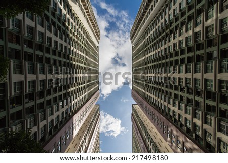 Modern architecture real estate detail - stock photo