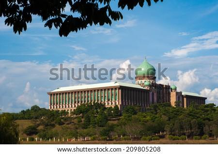 Modern architecture with Arabic design, Putrajaya, Malaysia   - stock photo