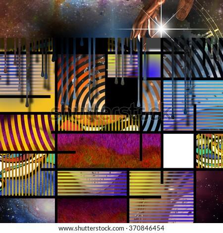 Modern Art Inspired Geometric Design - stock photo