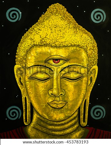 Modern art portrait of the Buddha. .