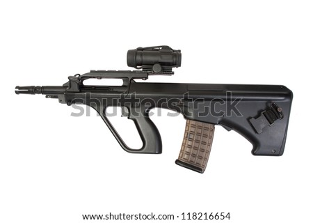 modern assault rifle isolated