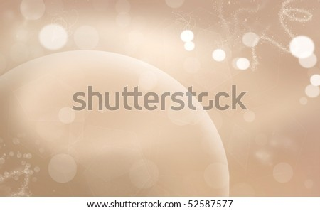Modern background with circles and shimmery lights - stock photo