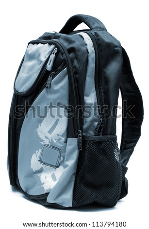 Modern backpack on a white background - stock photo