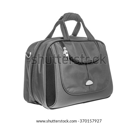 Modern bag for travel. Isolate on white background.