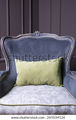 Modern Baroque Chair On Stage