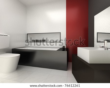 Modern bathroom for residences or hotels - stock photo
