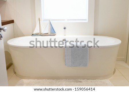 Modern bathroom in luxury - stock photo