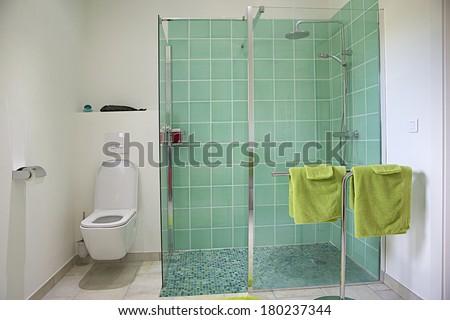Modern bathroom in luxury apartment  - stock photo
