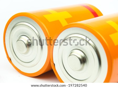 modern battery aa, aaa alkaline cadmium chemical isolated on white background