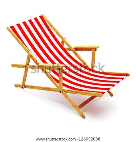 Modern beach chair - stock photo