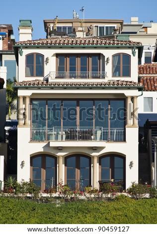 Modern Beach Home Exterior - stock photo