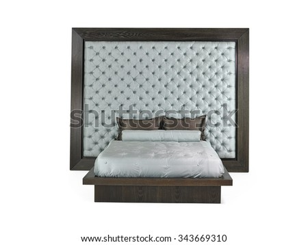 Modern Bed - stock photo