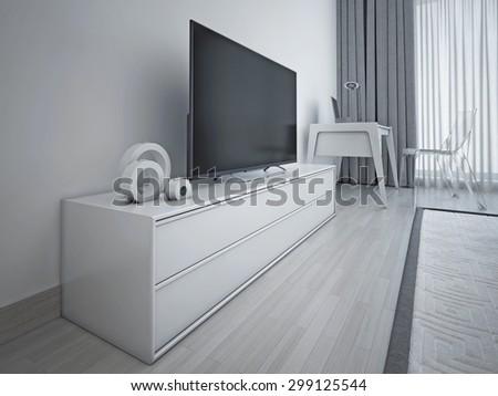 supermarket counter 3d rendering stock illustration. Black Bedroom Furniture Sets. Home Design Ideas