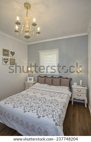 Modern  bedroom /  Luxury Hotel Room - stock photo