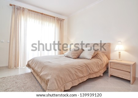Modern bedroom suite. For the family. - stock photo