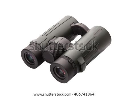 modern binoculars isolated over white background  - stock photo