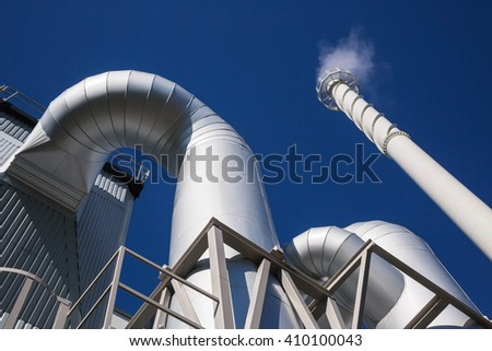 Modern biomass power plant