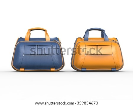 Modern blue  and yellow handbags