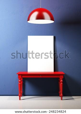 Modern blue interior  - stock photo