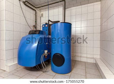 modern boiler room - stock photo