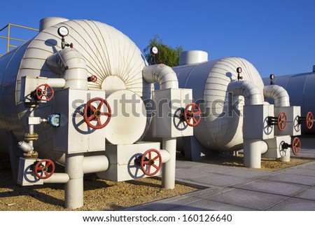Modern boiler room equipment for heating system.