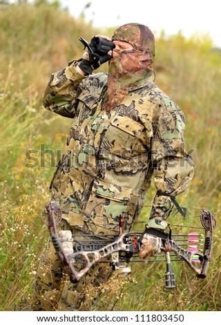 Modern Bow Hunter - stock photo