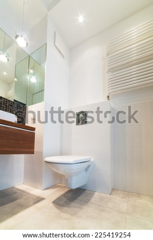 Modern bright bathroom interior