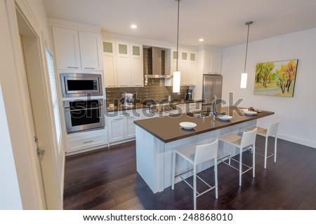 luxury kitchen interior design modern kitchen luxury house stock photo 130853921 shutterstock