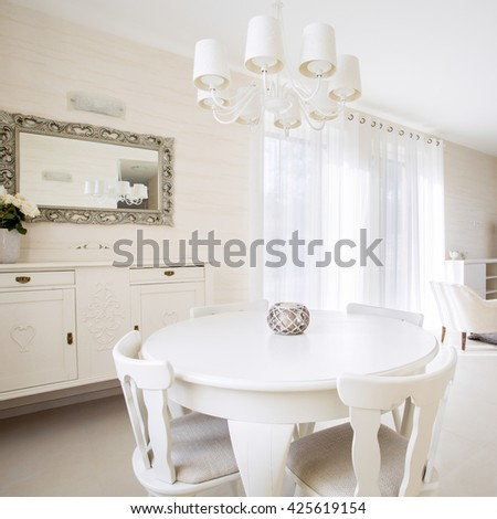 Modern, bright living room in the apartment - stock photo