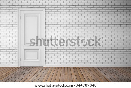 Modern bright room interior background - stock photo
