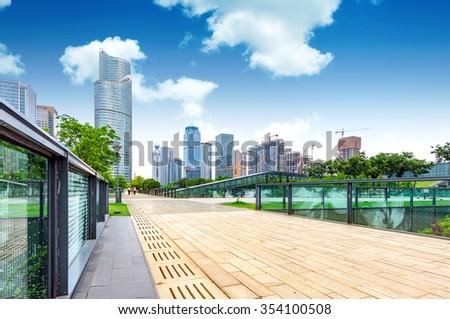 Modern building China Hangzhou, Zhejiang - stock photo
