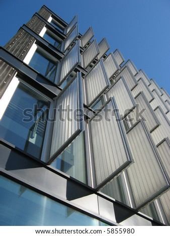 Modern building detail - stock photo