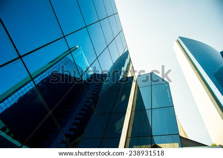 Modern building glass wall  - stock photo