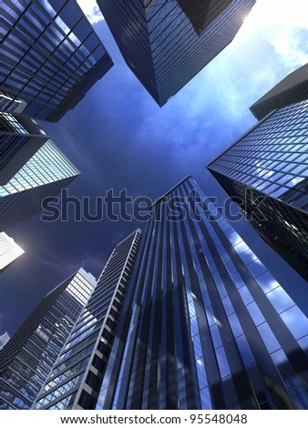 Modern building in city - stock photo
