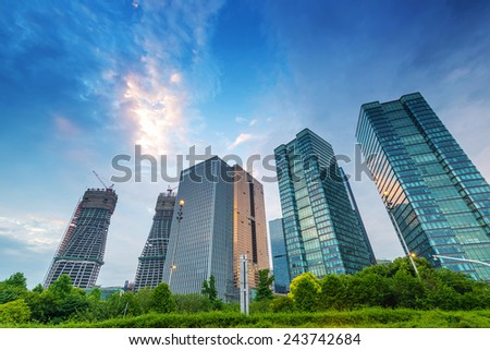 modern building in hangzhou  - stock photo