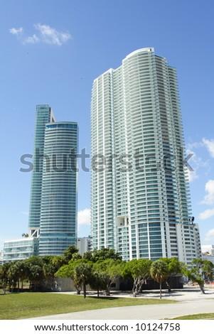 Modern Building in Miami - stock photo