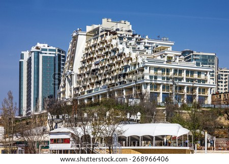 Modern building odessa ukraine arcadia hotel stock photo for Design hotel odessa