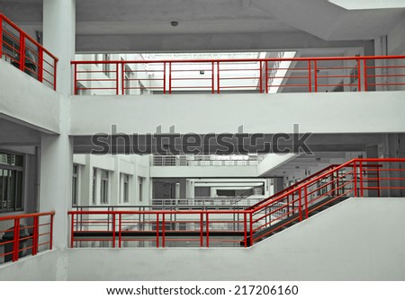 Modern building layers of floor structure - stock photo