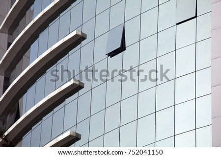 Modern building. Modern office building with facade of glass