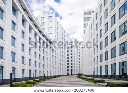 Modern building, Moscow,Russia  - stock photo